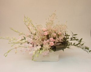 Sweet design in blush pink and cream