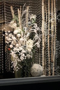 Silver and White Display