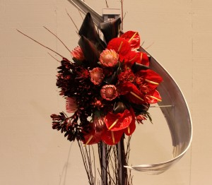 Red and Silver Arrangement