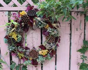 Pretty Door Wreath with Hydrangea