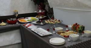 Buffet table of delicious nibbles