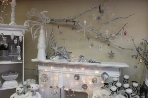 Display of white and silver gifts