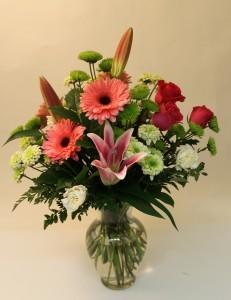 Lilies, Gerbera, Roses