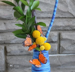 Craspedia in Yarned Vase