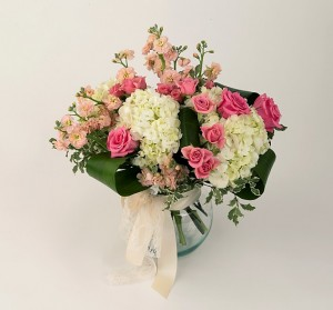 Soft pink and cream flowers