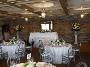 Head table and centrepieces