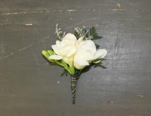 White Freesia Boutonniere