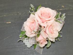 Wrist Corsage Pink Roses