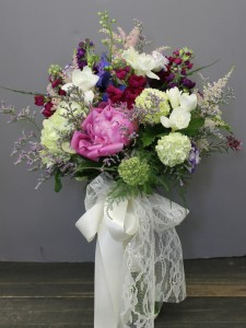 Bouquet with Lace and Satin