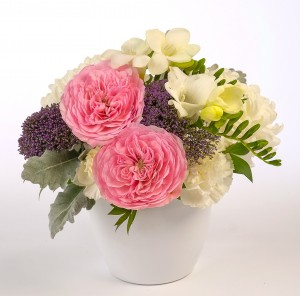 Pink, mauve and white fragrant bouquet