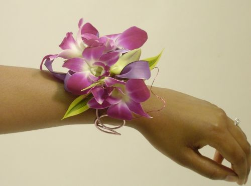 Cool Purple Wrist Corsage
