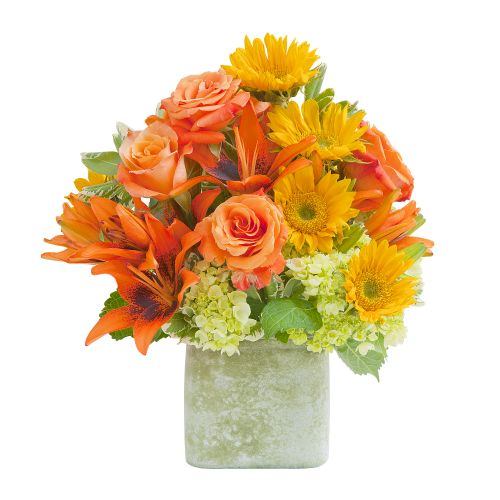 Heaven's Sunset Vase Arrangement