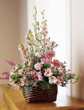 Exquisite Memorial Basket Arrangement
