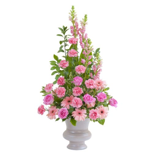 Peaceful Pink Large Urn Arrangement