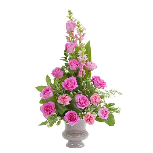 Peaceful Pink Small Urn Arrangement