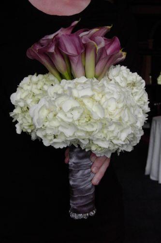Lavender Callas with Hydrangea