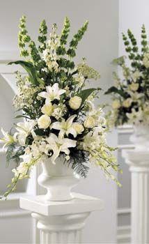 Classic White Urn Arrangement